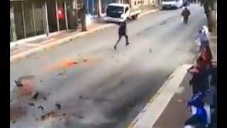 فيديو: لحظة وقوع زلزال غرب تركيا ونجاة أحد الأشخاص بأعجوبة…