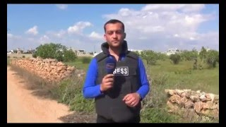 Reporter Hit By Shrapnel From Airstrike Live On TV