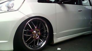 Modifikasi Honda Jazz RS Putih Terbaru ( Modif Velg + Interior + Lampu Projie + Knalpot )