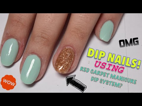 DIP NAILS! || red carpet manicure dip system
