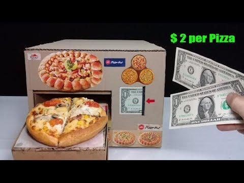 Amazing $ 2 per Pizza - How to make Pizza Vending Machine for 2 sheets of $ 1