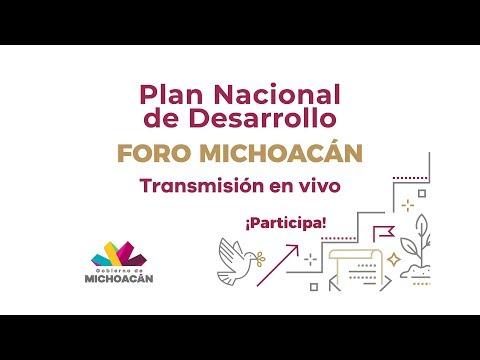 Foro Michoacán: Plan Nacional de Desarrollo