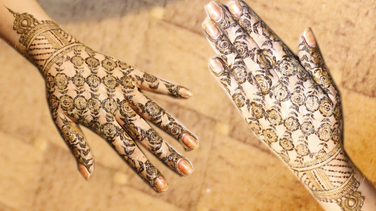 Mehndi Bridal Back Side : Bridal back hand special mehndi at home viral lifestyle