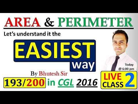 Mensuration 2D |Area and perimeter| (Part 2) for SSC CGL Tier 1 and tier 2 and  Bank PO