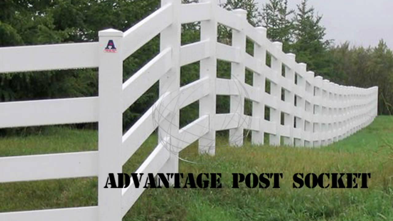 Vinyl fencing install advantage post socket youtube vinyl fencing install advantage post socket baanklon Choice Image