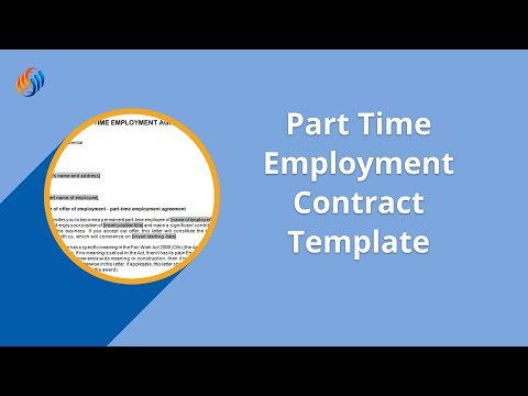 Part Time Employment Contract Template