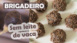 O MELHOR BRIGADEIRO SEM LEITE DE VACA! PERFEITO!