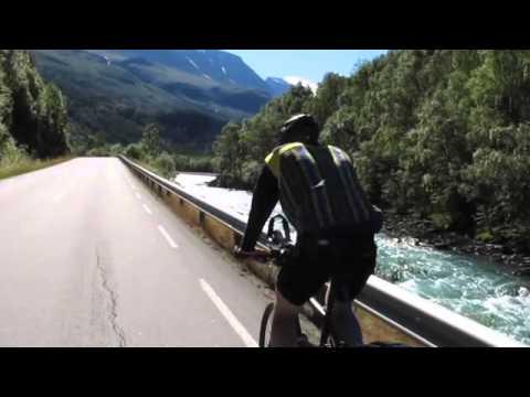 Radtour durch Norwegen im August 2012, von Oslo nach Bergen