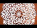 Поделки - МК Вязание салфетки крючком по схеме. 1-9 ряды.