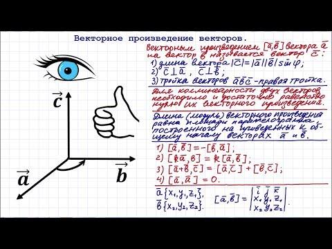 Как найти произведение векторов