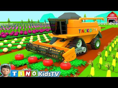 Harvester Tractor for Kids Harvesting Fire Trouble | Harvester Tractor Uses for Children