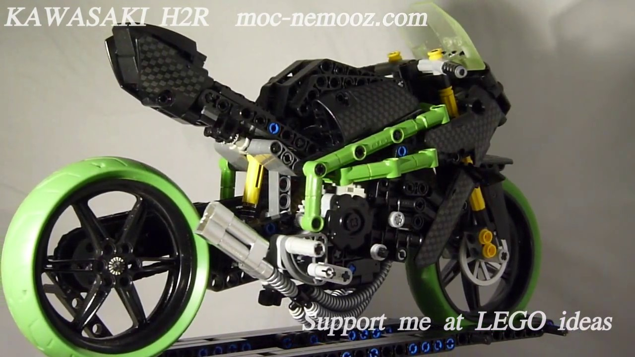 Kawasaki Ninja H2r >> KAWAZAKI H2R - LEGO TECHNIC MOTORCYCLE - YouTube