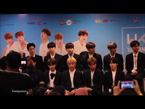 180119 워너원제작보고회 Wanna One First Fanmeeting in Malaysia Press Conference