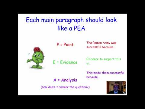 How to write a pee paragraph in english