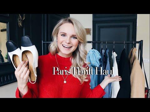 PARIS THRIFT HAUL + TRY ON + VLOG | ANDREA CLARE IN FRANCE