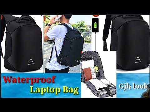 Waterproof Laptop Bag Anti Theft Backpack with USB Charging Port 15.6 Inch Laptop Bagpack Waterproof