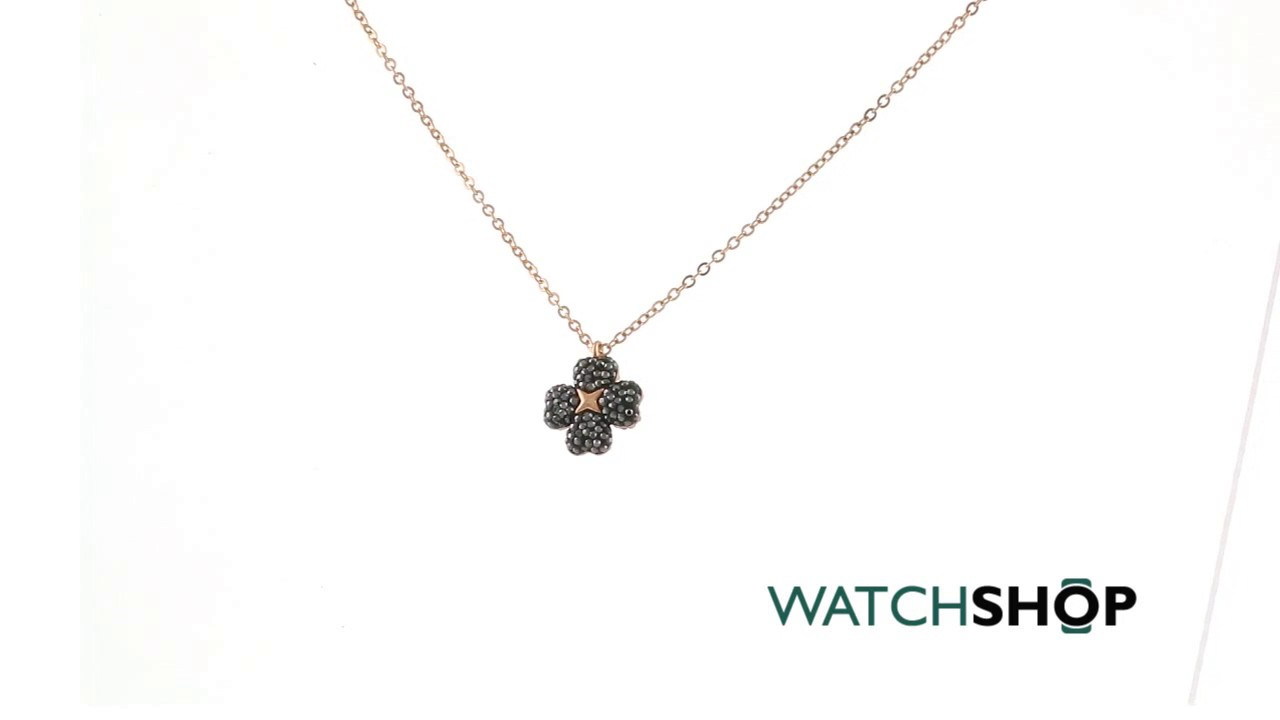 7dce4b108 Ladies Swarovski Rose Gold Plated Latisha Flower Necklace (5420246 ...
