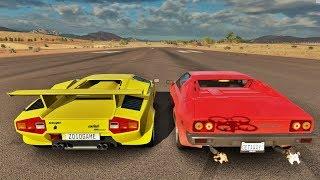 Forza Horizon 3 Online - Lamborghini Countach LP5000 VS Lamborghini Jalpa