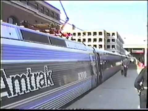 Early 1990s Amtrak, X2000 Tour, Metro North, Shore Line East on the Northeast Corridor