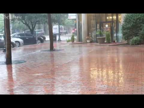 Wind driven rain lands in Columbia blown in from hurricane Irma