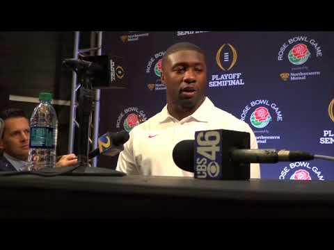 Georgia LB Roquan Smith meets with the media in downtown Los Angeles