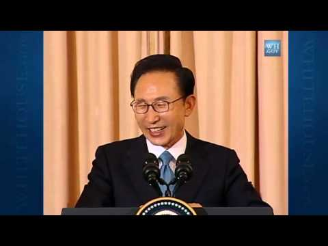 Remarks at the State Lunch in Honor of President Lee Myung-bak and First Lady Kim Yoon-ok