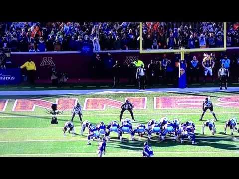 Minnesota Vikings Blair Walsh Missed Game Winning FieldGoal NFC Wild Card Playoffs