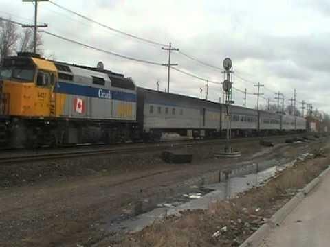 VIA rail's Hudson Bay Northbound on Sunday in Winnipeg.