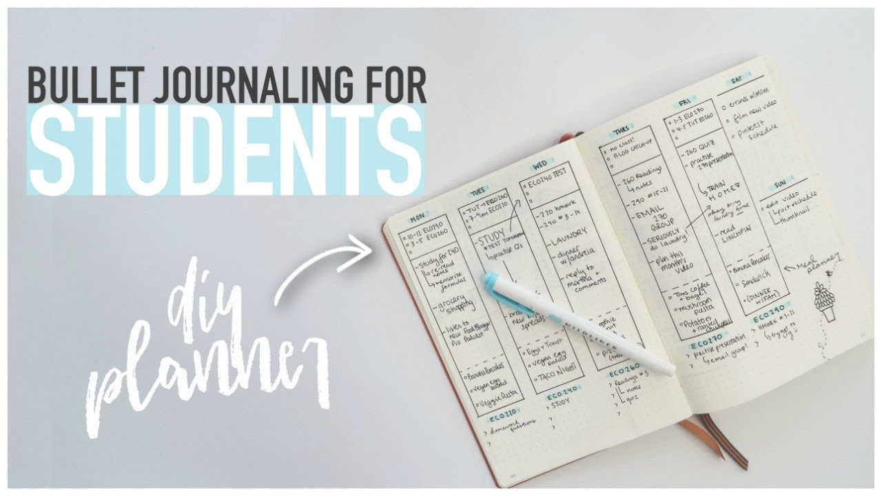 bullet journaling for students diy back to school planner for university high school youtube. Black Bedroom Furniture Sets. Home Design Ideas