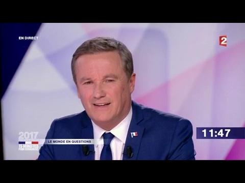 """Nicolas Dupont-Aignan dans """"15 minutes pour convaincre"""" sur France 2"""