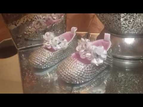 Silver Bling Baby Shoe