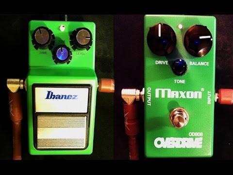 Ibanez TS9 VS Maxon OD808
