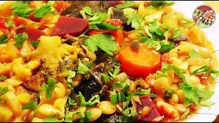 Летнее овощное рагу с фасолью. Просто, вкусно, недорого.