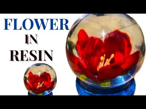 Flowers in epoxy resin / diy / Art Resin