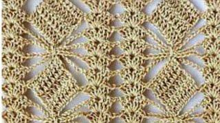 Ponto fantasia de crochê para diversos trabalhos