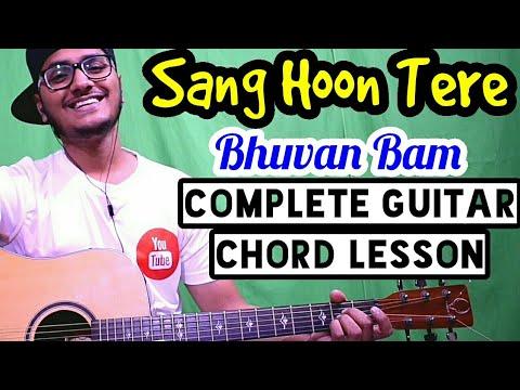 Sang Hoon Tere - Bhuvan Bam - Complete easy guitar lesson,Four chords only, Beginner guitar tutorial