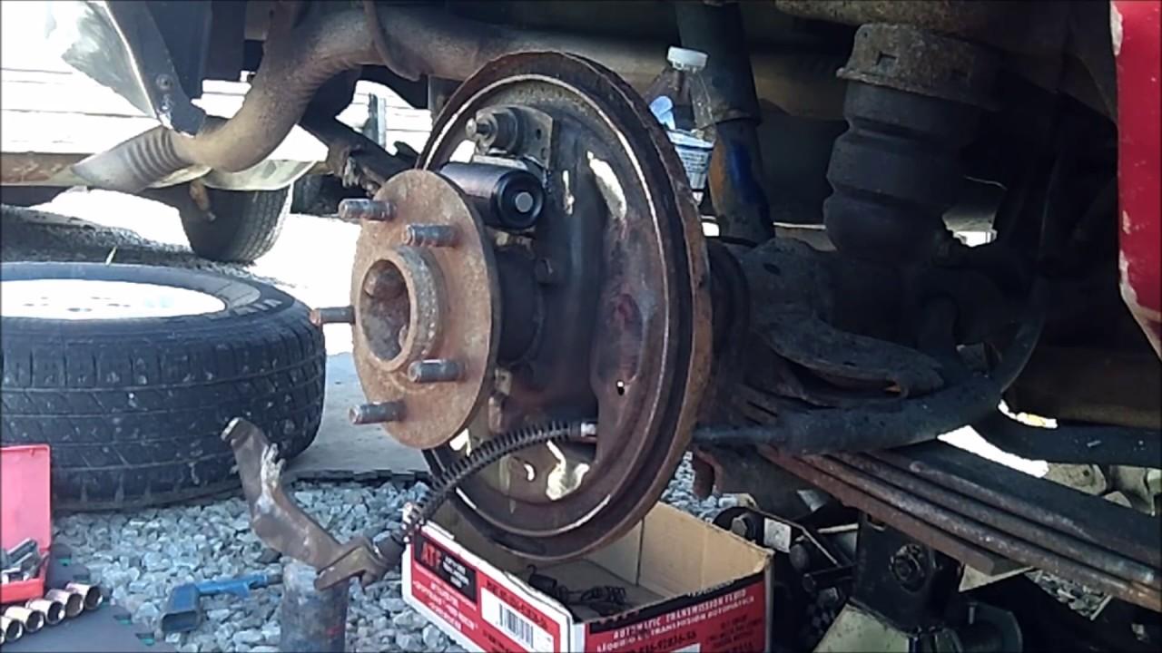 1997 Chevy Blazer Rear Drum Brakes Replacement  YouTube