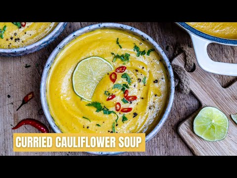How To Make Curried Cauliflower Soup With Coconut Milk (Paleo Recipe)