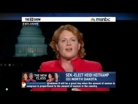The Ed Show  Sen-Elect Heidi Heitkamp on Bush Tax Cuts and Tax Rates