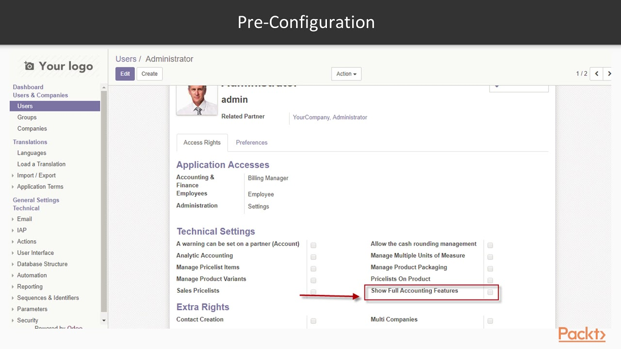 odoo 11 for business configuring chart of accounts packtpub com