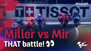 THAT Miller and Mir battle 😰  | 2021 #DohaGP