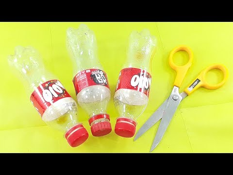 Plastic Bottle craft idea | Unique flower vase ShowPiece | Best Out of Waste Plastic Bottle