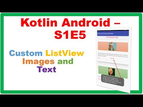 Android ListView → Kotlin Android – Custom ListView – CardViews