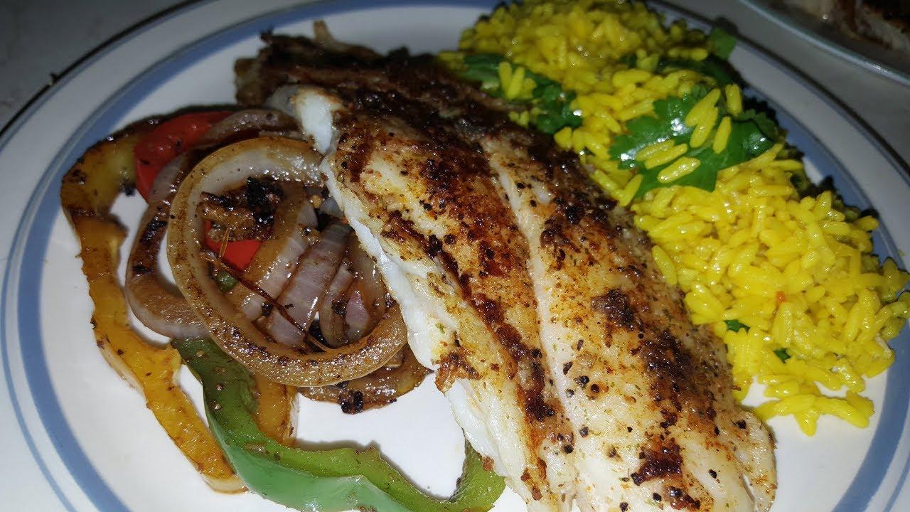 Swai Fish And Stir Fry W Spanish Rice Youtube