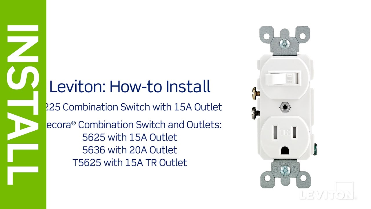 leviton presents how to install a combination device with a single rh youtube com Combination Double Switch Light Wiring single pole switch outlet wiring diagram
