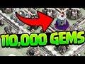 Clash of Clans Update - 110,000 GEMS! GEMMED to MAX!