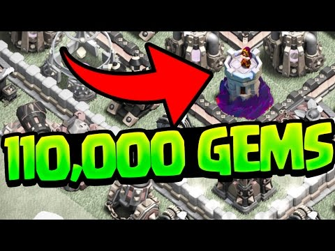 Thumbnail: Clash of Clans Update - 110,000 GEMS! GEMMED to MAX!