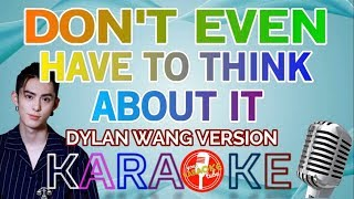"""KARAOKE """"DON'T EVEN HAVE TO THINK ABOUT IT"""" METEOR GARDEN OST DYLAN WANG"""