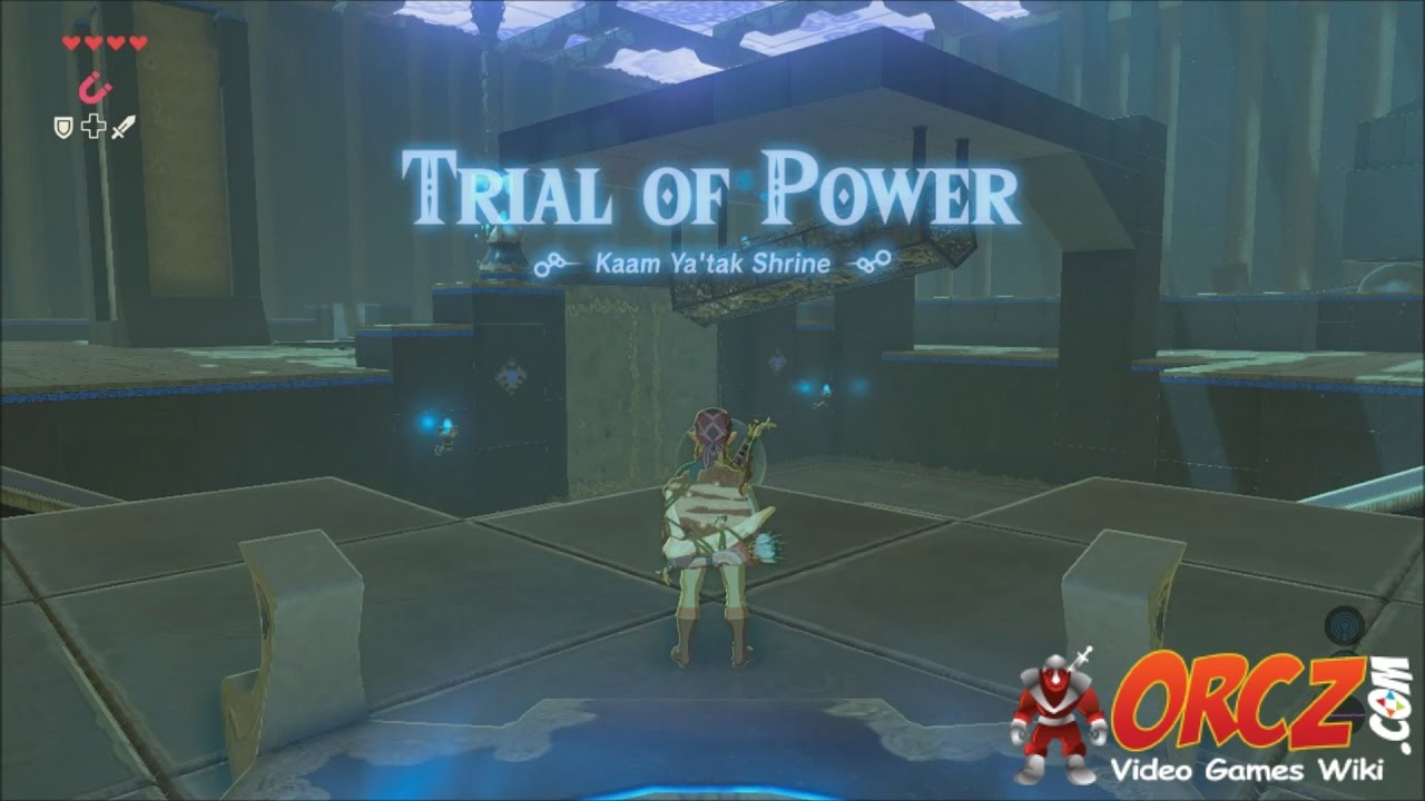 Legend of Zelda Breath of the Wild Shrine Kaam Ya'tak Trial of Power  Gameplay Walkthrough