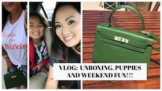 VLOG:  Unboxing, Puppies and Weekend Fun!